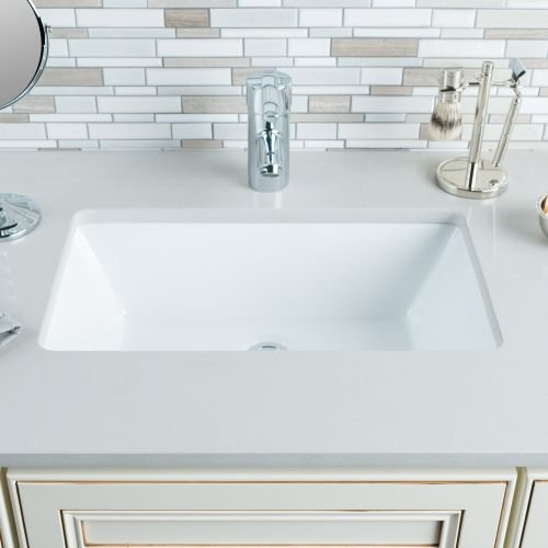 Miseno MNO2113RU Undermount 19'' X 11'' Bathroom Sink with Integrated Overflow, White by Miseno