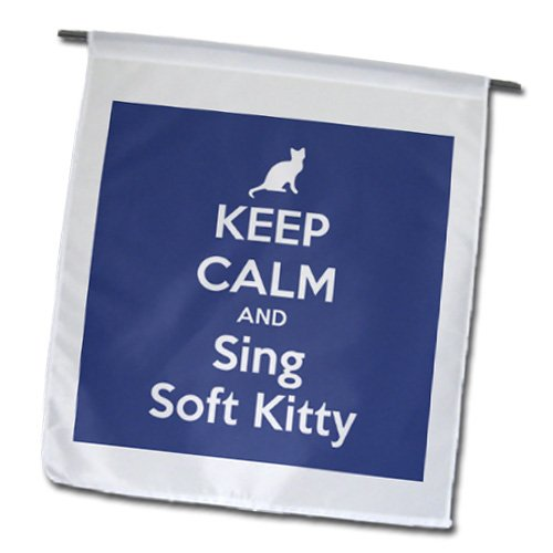 3dRose fl_157436_1 Keep Calm and Sing Soft Kitty Cat Lovers Garden Flag, 12 by 18-Inch
