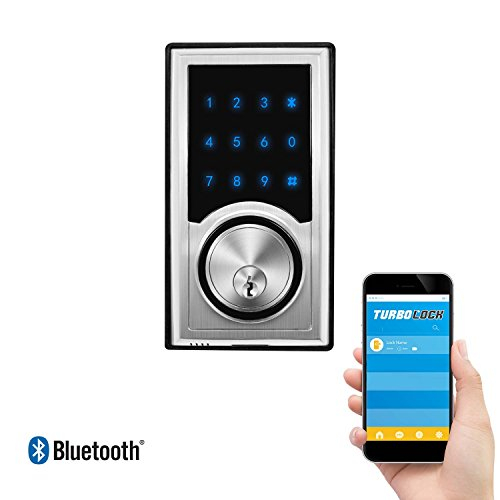 Weather Resistant Digital Keypad (TurboLock TL-200 Smart Deadbolt Lock w/ Real-Time Monitoring & App: Use eKeys, Physical Keys, or Passcodes - Smart Lock (Brushed Nickel))