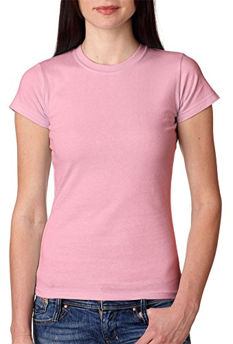 Anvil Cap Sleeve T-shirt (Anvil Junior's Fitted Silhouette Cap Sleeves T-Shirt, Charity Pink™, 2XL)