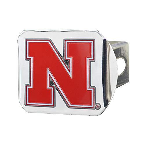 - SLS Nebraska Cornhuskers 3D Color Emblem Chrome Hitch Cover