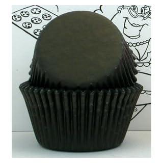 Golda's Kitchen 100 Count Baking Cups, Standard Sized, Black