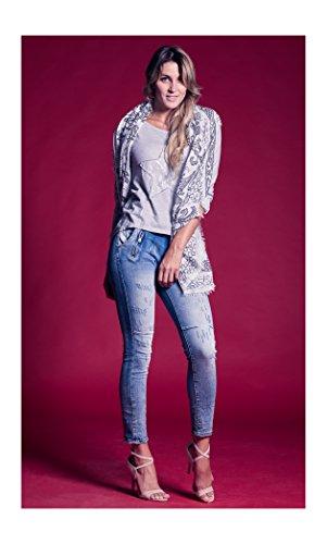 Dulce Largo Elegante Rectos CY132 Azul Sport Delicado Mujer Primavera Oferta para 1 Colore Fit Moda Flexible Rebaja Moderno Venta Verano Joven Abbino Transición Vaquero Jeans Otoño Juvenil ZPHdnfqaf