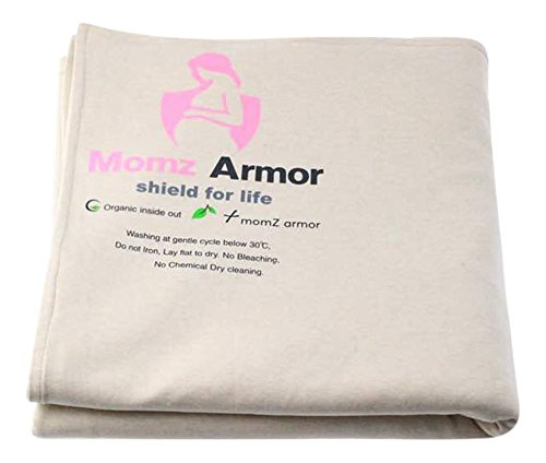 Momz Armor 100% Organic Cotton Blanket or Swaddle Protective RF Shielding  EMF with Silver Elastic Fabric