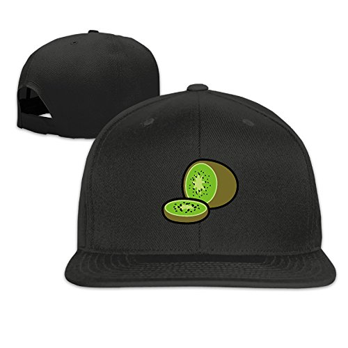 Cartoon Fresh Fruit Kiwi Snapback Baseball Hip Hop Unisex Cap Black