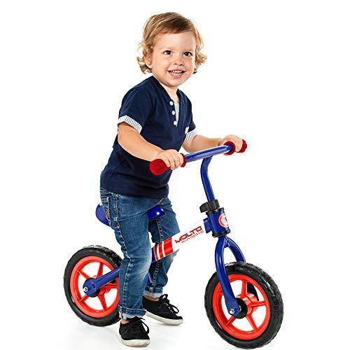 🥇 M MOLTO Bicicleta sin Pedales Infantil Minibike Azul