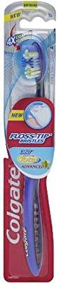 Colgate 360 Total Advanced Floss-Tip Bristle Toothbrush, Full Head Medium