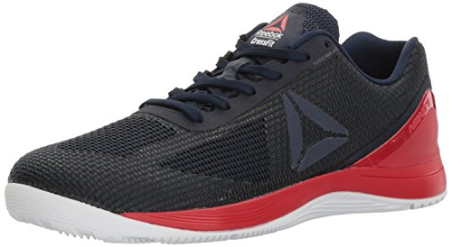 Reebok Men's Crossfit Nano 7.0 Cross-Trainer Shoe, Collegiate Navy/Primal Red/White/Black, 7 M US