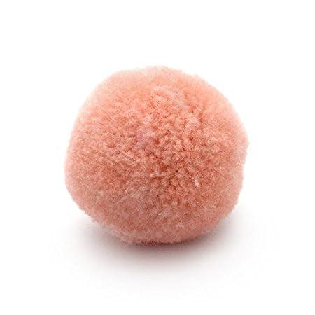 d/écoratifs et Loisirs Fournitures Diam/ètre 30 mm 10 Pompons pour Artisanat Orange Ruby