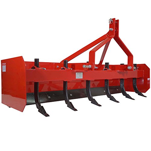 - Titan 6' Box Blade Tractor Attachment for Category 1 3pt