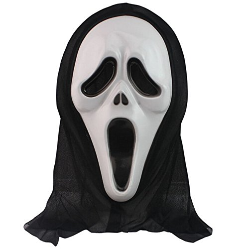 Diy Costume Deadshot (Pretty Party Decor DIY Funny Fancy Dress Scream Horror Ghost Mask White Face)