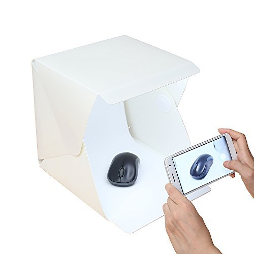 Folding Portable Lightbox Studio - Take Pictures Like a Pro on the Go with a Smartphone or DSLR Camera by TWONE