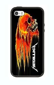 Case Cover Design Metallica Music ME06 for Iphone 4 4s Border Rubber Silicone Case Black@pattayamart