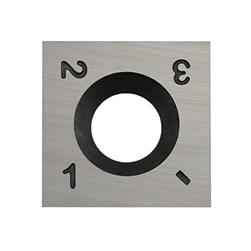 Edge Spiral - DLtools 15mm (Ci1) Square Straight Carbide Insert Cutter(15X15X2.5mm)4-Edge,for Spiral/Helical Planer Cutter Head Wood Turning Lathe Tool,Pack of 1