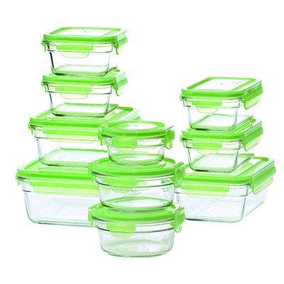 Glasslock 20-Piece Storage Container Set (Glasslock Food Storage Container Set 20 Piece)