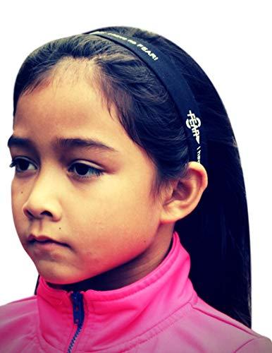 Fear0 2 Non-Slip Grip Black White Women/Girls Soccer Running Fitness Sport Headbands