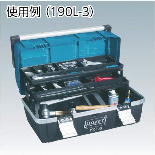 22.64 x 9.65 x 8.27 Hazet 190L Empty Tool Box