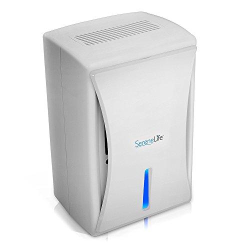 SereneLife Relax AZPDUMID35 Compact Electronic Dehumidifier Digital Mini Moisture Control White