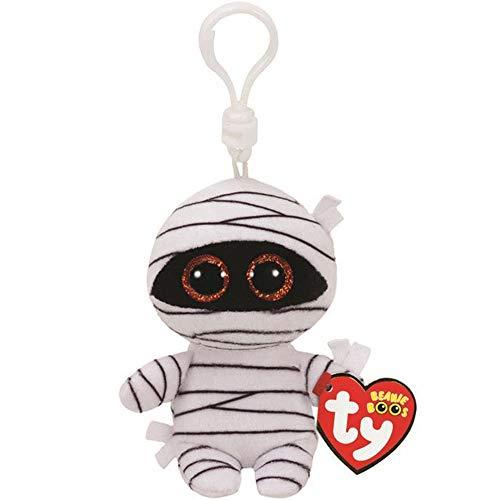 (Ty Beanie Boos Keychain | Mummy White Halloween Plush Keychain | Stuffed Ghost Collection Doll)