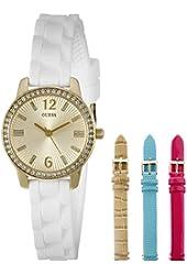 GUESS Women's U0784L2 Feminine Interchangeable Wardrobe Watch Set
