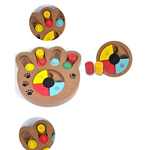 Dulcii Seek-A-Treat Shuffle Bone Dog Cat Birds Toy Puzzle,Pet Puzzle Treat Toy,Pet IQ Interactive Food Dispensing Toy