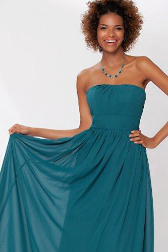 vestido Encuadre Gorgeous tirantes de formal noche SEXYHER Teal de de cuerpo EDJ1453 las honor damas entero de sin 57dxq