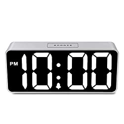 [Newest Version] iCKER Alarm Clock - 9 Large Display Digital Clock with 0~100 Dimming Mode for Bedrooms, Loud Adjustable Alarm for Heavy Sleepers, Battery Backup and Snooze
