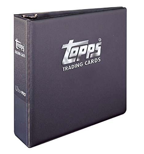 (Topps Ultra Pro Value Gift Pack: One Brand New Black Topps Ultra Pro Trading Cards Album (3 Inch D Ring Binder) with 25 9 Pocket Pages. This Is the Album with Topps on the Front Made Specifically for Topps Products Including Baseball, Football, Basketball, Hockey, MLS and Non Sports Cards. Great Gift Idea!)