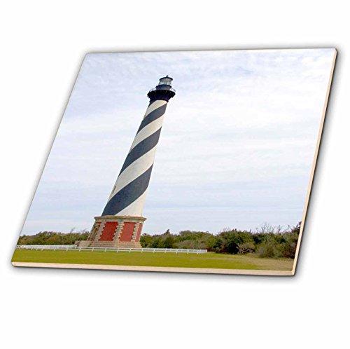 3dRose ct_93246_1 Cape Hatteras Lighthouse in North Carolina-Us34 Dfr0031-David R. Frazier Ceramic Tile, 4-Inch