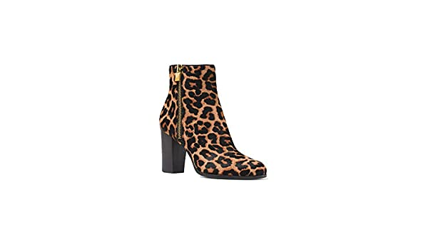 bcad0a7dc98c Amazon.com | Michael Kors Women's Black Margaret Leopard Calf Hair Ankle  Boot (6.5 M, Leopard) | Boots