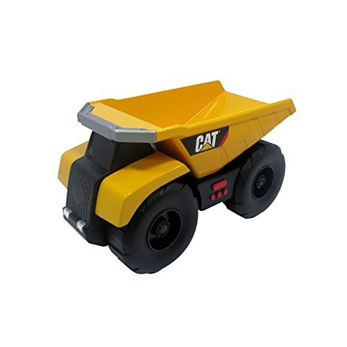 Toy State Caterpillar Big Builder Machines 34621 Toy Construction Vehicle Dumper Truck Moving with Light / Sound Effects by (Large Caterpillar)