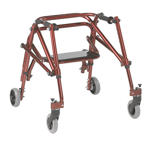 (Inspired by Drive Nimbo 2G Lightweight Posterior Walker with Seat, Castle Red, Small)