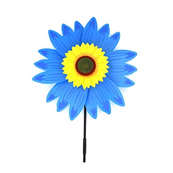 Coxeer Pinwheel Wind Spinner for Kids Outdoors Toy Pinwheel 3D Sunflower Toy Windmill Party Toy