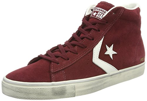 Converse Pro Vulc Distressed, Baskets Hautes Homme Rouge (C.truffle/S.white/Turtledove)