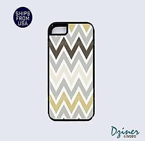 iPhone 5 5s Tough Case - Grey Chocolate Chevron iPhone Cover