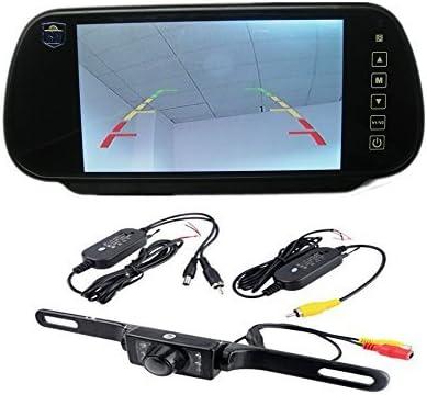 "Wireless 5/"" HD TFT LCD Monitor+Car Backup Camera Rear View System 7LEDs IR Night"