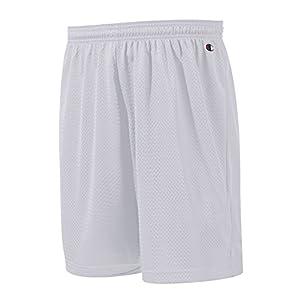 Champion Adult Long Poly Mesh Shorts, Black, Large