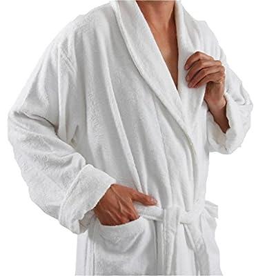 Spa & Resort Hotel Luxury Reserve Burgundy Terry Velour Bathrobe For Men