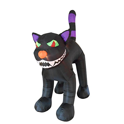 Airblown Inflatable Giant Black Cat 10' Halloween Yard Decoration