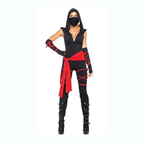 Fashion-Cos1 Halloween Women's Deadly Ninja Killer Costume Game