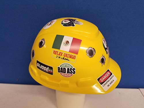 56 pack of Mexican American Edition Crude Humor Hilarious Hard Hat Prank Decal Joke Sticker Funny Laugh Construction LOL by Decals by Haley (Image #2)
