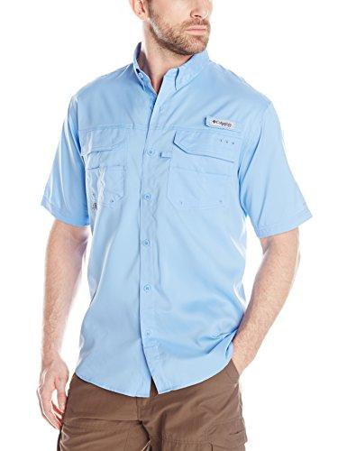Columbia Men's Blood and Guts III Short-Sleeve Sun Shirt, Waterproof, White Cap, Large