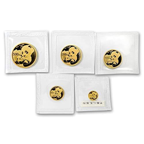 CN 2019 China 5-Coin Gold Panda Set BU (Sealed) Brilliant Uncirculated ()