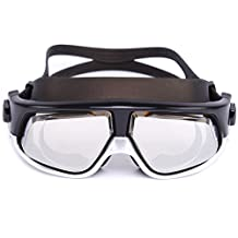Whale swim Goggle Swimming Mask with Optical Corrective Anti-Fog Lenses((Prescription 1.5-7.0 Diopters) for Women and Men Adult