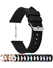 8 Colors for Quick Release Silicone Rubber Watch Band, Fullmosa Rainbow Soft Rubber Watch Strap with Stainless Steel Buckle 18mm 20mm 22mm 24mm
