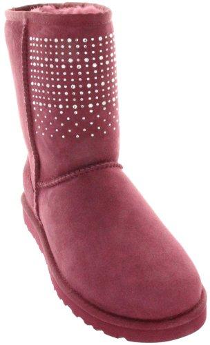 UGG Women's Classic Short Bling Sangria Boot 7 B - Medium