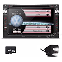 XTRONS 7 HD Digital Touch Screen Dual CANbus GPS Navigator Car DVD Player with Screen Mirroring Function Custom Fit for Volkswagen / Seat / Skoda Revering Camera&Map Card Included