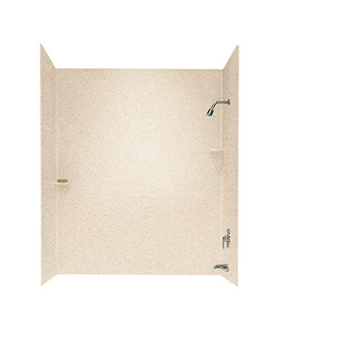 Swanstone SS-72-3-040 Solid Surface Bathtub Wall Panel System, 30-Inch x 60-Inch x 72-Inch, Bermuda Sand, 3-Piece