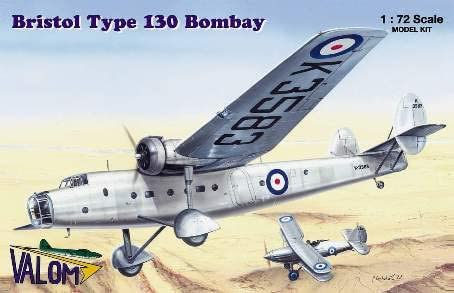 Plastic Model Building Kit # 72055 Valom 1//72 Scale Bristol Type 130 Bombay
