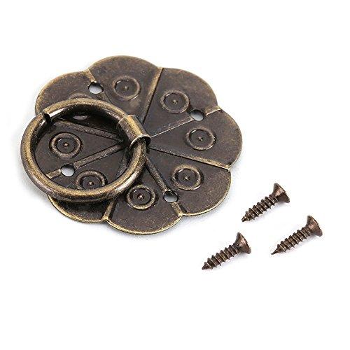 Fdit 20pcs Anillo Tirador Pomo Vintage Estilo Clásico para Muebles Armarios Cajón Puertas 3 x 3cm(3 x 3cm)